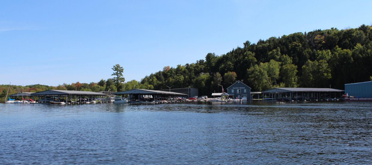 Allport Marina from Lake Muskoka